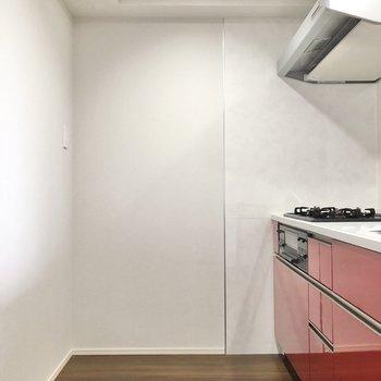 【LDK】キッチンの内側はゆったりと。