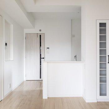 キッチンはプチ対面式です。(※写真は3階の同間取り別部屋のものです)