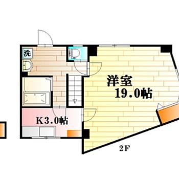 このお部屋はペットと一緒に住めるんですよ。