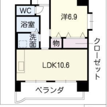 ひとりで広々と暮らしたい方にオススメの一人暮らし向けのお部屋です。