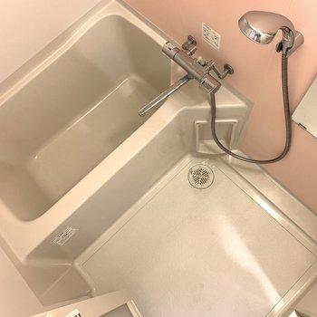 男性には少し狭めな浴槽でしたが、洗い場はそうではなかったです(※写真は13階の同間取り別部屋のものです)