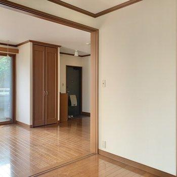 【洋室】寝室として使えますね。※写真は1階の同間取り別部屋のものです
