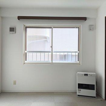 【8.7帖洋室】窓は南向き。