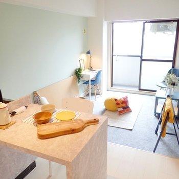 【家具イメージ】キッチンがお部屋のメインって素敵ですよね!