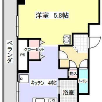 玄関を跨いで2つのお部屋がある1LDK!
