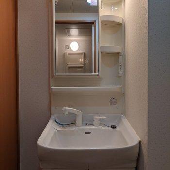 独立式洗面台です。身支度がしやすいです。