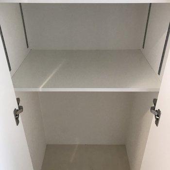 廊下のちょっとした収納って便利ですよね。(※写真は8階の反転間取り別部屋のものです)