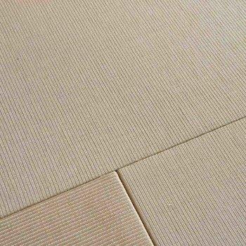 リビング、寝室の床は麻畳。肌触りがよく、丈夫な素材なので、床座スタイル、ソファやベッドを置いたスタイル、どちらにも似合います。