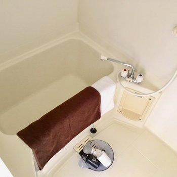 お風呂も普通かな?(※写真は別棟反転間取り別部屋、モデルルームのものです)