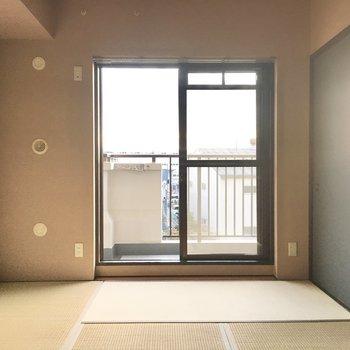 やっぱり畳はゴロゴロしたくなりますねぇ。(※写真は3階の同間取り別部屋のものです)