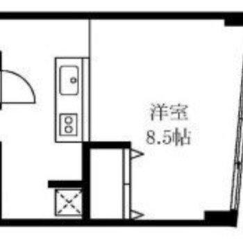 お部屋は南東向きです。