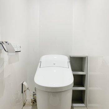 シャワーの向かいにはトイレがあります。
