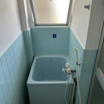 毎日、シャワーで大丈夫な方向けのお風呂場。窓付きなのは嬉しい