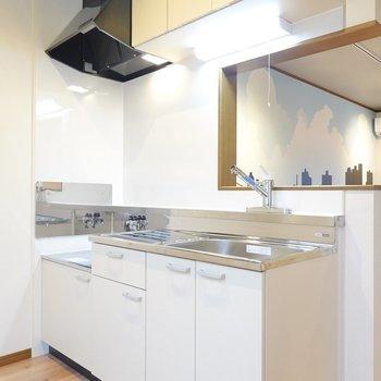 対面式キッチンも嬉しいポイントのひとつ。