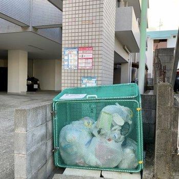 敷地内ゴミ置場も。ゴミ出しが楽になります。