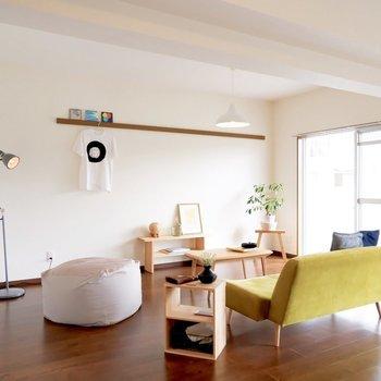 【LDK】季節でお部屋を色付けてくださいね※写真は1階の同間取り別部屋のものです