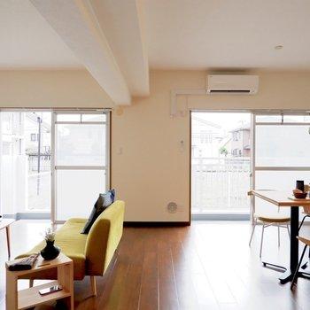 【LDK】団らんと食卓を分けられます※写真は1階の同間取り別部屋のものです