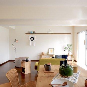 【LDK】どこにいてもお部屋を見渡せます※写真は1階の同間取り別部屋のものです