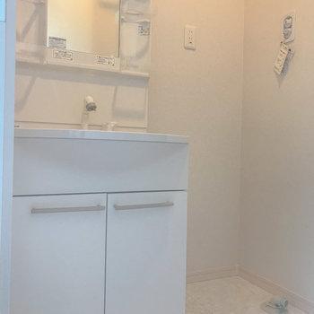 脱衣所には独立洗面台がありました