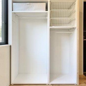 収納は種類ごとに整理整頓がしやすいですね。※写真は2階の同間取り別部屋のものです