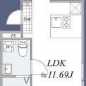 寝室空間がしっかり分けられます。