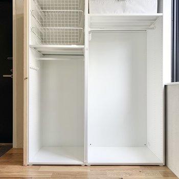 収納は大きさごとに分けれ置けますね。※写真は2階の同間取り別部屋のものです