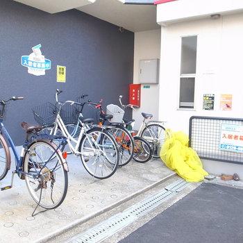 【共用部】自転車とゴミ置き場はマンション前に置きましょう。