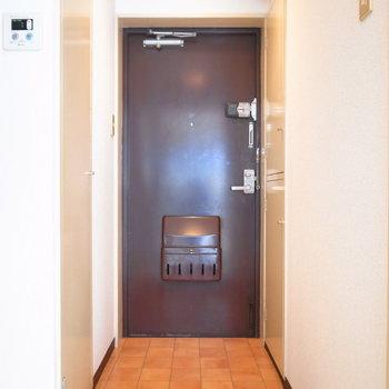 玄関のたたきは広めです!左のとびらを開けると、