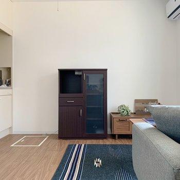 家具をこれだけ置いても圧迫感のない広さですよ。(※写真は1階の同間取り別部屋のものです)
