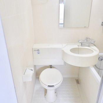 その隣におトイレ。ここはすのこなど木製のグッズで雰囲気良く改造したいところ。