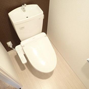 植物を置きたいトイレ空間。(※写真は13階の同間取り別部屋のものです)