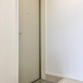 玄関もちょっと狭いかな?。※写真は同タイプのお部屋のもの