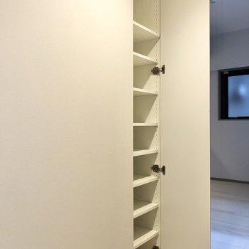 廊下部分には収納が2つ。こちらは多目的に使えそう。※写真は2階の同間取り別部屋のものです