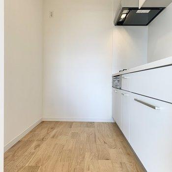 冷蔵庫は大型でも余裕です。