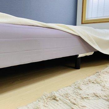 ベッド下も収納に使えそうです◎