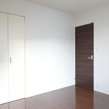 洋室にもクローゼットあり。左の扉を開けると…