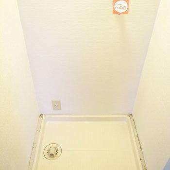 洗濯パンは玄関にあります。