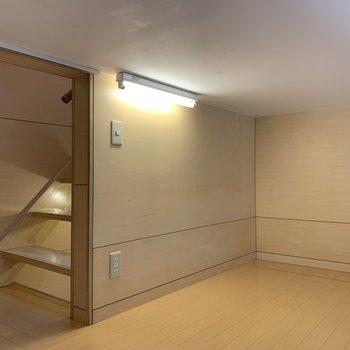 【2階ロフト】照明とコンセント付きです。※写真は前回募集時のものです