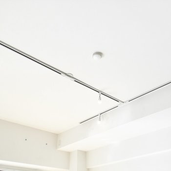 【イメージ】リビングの天井にはH字のライティングレール。