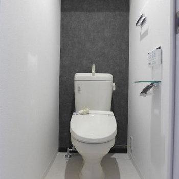トイレは嬉しいウォシュレット付き。(※写真は9階同間取り別部屋のものです)