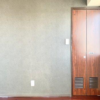 ドアもかわいい。※写真は3階の同間取り別部屋のものです