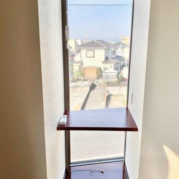 外の景色を見ながら作業が捗りそう。※写真は3階の同間取り別部屋のものです