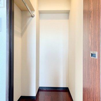 照明付きのウォークインクローゼットです!※写真は3階の同間取り別部屋のものです