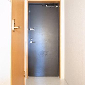 玄関はコンパクトですが、狭さはありません。