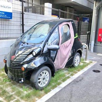 超小型EVも24時間利用可能!乗ってみたいなぁ。