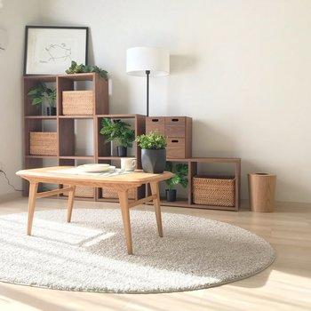 ローテーブルを置けば、もっと開放感を楽しめそう。(※写真の家具・小物は見本です)
