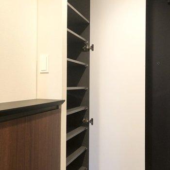 こちらは縦に長いのでたっぷりと収納できそう。※写真は6階の同間取り別部屋のものです