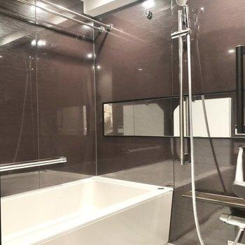 大きくて高級感のあるお風呂です。※写真は6階の同間取り別部屋のものです