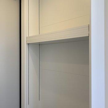 棚をお好みの高さに合わせて調整して下さいね。