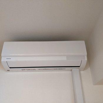 【洋室】エアコン付きなので暑い夏も快適に。